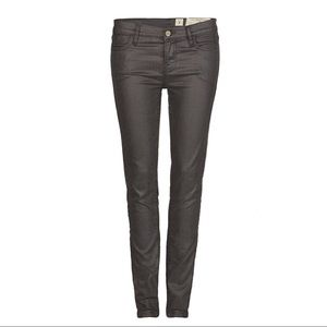All Saints brown skinny jeans Forster Ashby